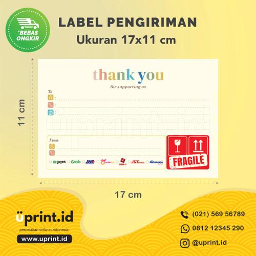 Foto Produk Sticker Label Pengiriman Online Shop (Jumbo)|11x17 cm| TY001 dari Uprint.id