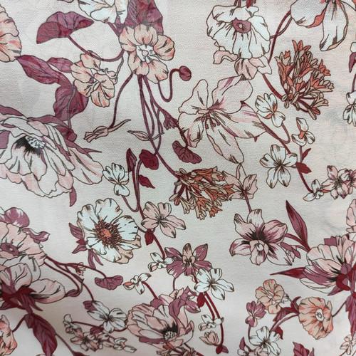 Foto Produk Kain sifon ceruti babydoll motif bunga bidang besar - peach dari Vbtex