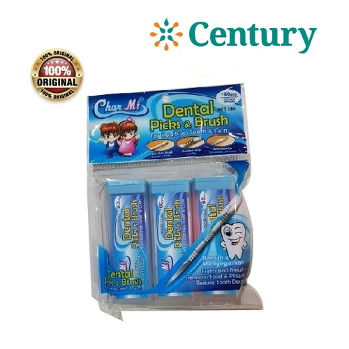 Foto Produk Charmi Dental Picks&Brush 180pcs / tusuk gigi / pembersih gigi dari CENTURY HEALTHCARE