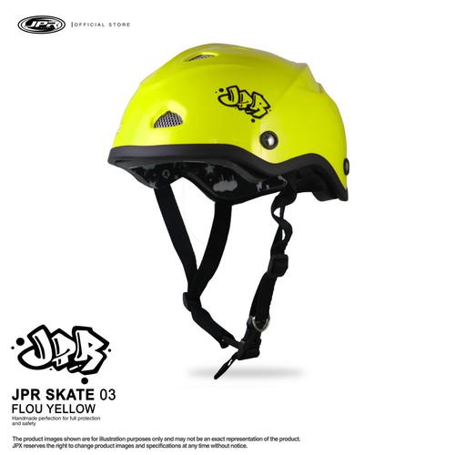 Foto Produk Helm JPR SKATE SOLID 03 - Fluo Yellow Dof dari JPX Helmet