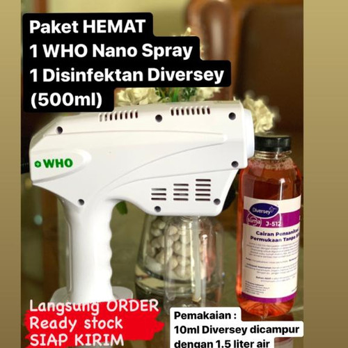 Foto Produk WHO Nano Spray + Disinfectant Diversey 500ml dari SINIORIJIN