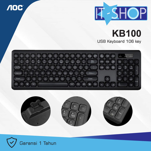 Foto Produk AOC Keyboard KB100 dari IT-SHOP-ONLINE