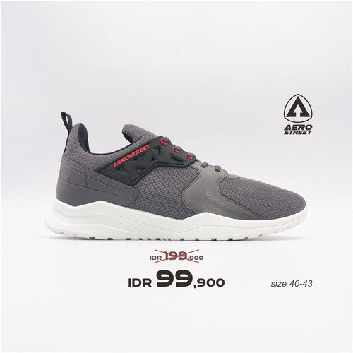 Foto Produk Aerostreet 40-43 Betroya Abu Tua - Sepatu Sneakers Sport Casual Pria - 40 dari Aerostreet