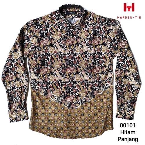 Foto Produk Kemeja batik panjang alisan lengan panjang full print - Hitam, M dari harden