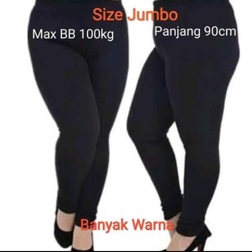 Foto Produk Celana Leging Wanita Jumbo XXL Hitam - Hitam, XXL dari Kaos Polos fary