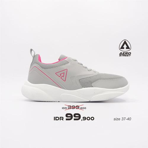 Foto Produk Aerostreet 37-40 Cherry Abu Fushia - Sepatu Sneakers Sport Wanita - 39 dari Aerostreet