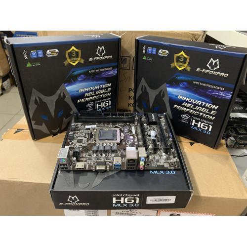 Foto Produk MOTHERBOARD EFFOXPRO H61 LGA 1155 USB 3.0 dari iconcomp