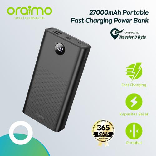 Foto Produk Oraimo Dual USB Port 27000mAh Power Bank Fast Charging 2.1A OPB-P271D dari Oraimo_indonesia