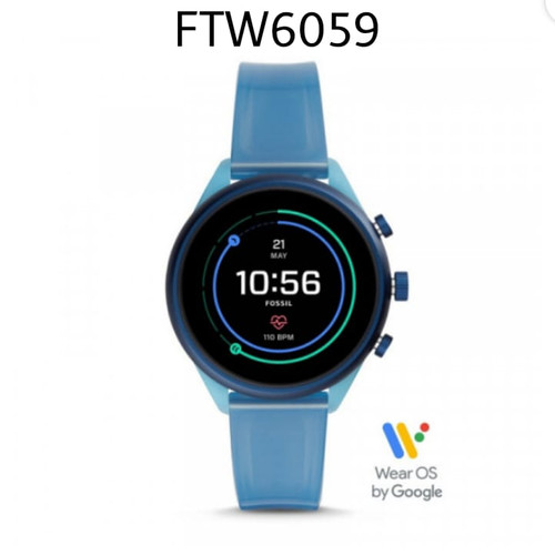 Foto Produk Jam Fossil Smartwatch Gen 4 FTW6059 Sport Blue Original dari Tania_OzShop