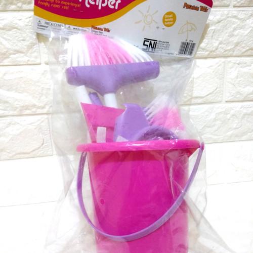 Foto Produk Mainan Alat Kebersihan Anak Ember Sapu Pel Sikat Little Helper Edukasi dari ZhafiraCorps