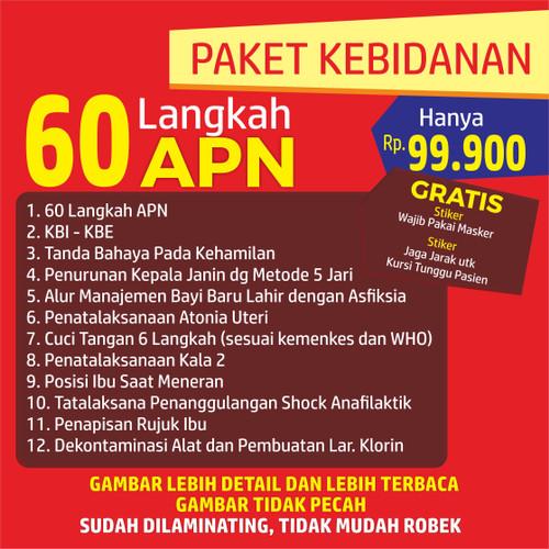 Foto Produk Poster Kebidanan 60 LANGKAH APN - 1 Set TERBARU dari Syafana