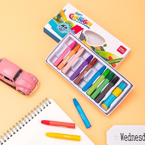 Foto Produk Deli Oil pastel warna cerah 12/18/24/36 dengan rautan pensil 7205X - 24COLORS 72052 dari Deli Stationery