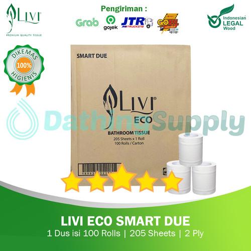 Foto Produk (KHUSUS GOJEK/GRAB) Tissue LIVI Smart Due 205 Sheet - 1DUS 100 ROLL dari Dathing Supply