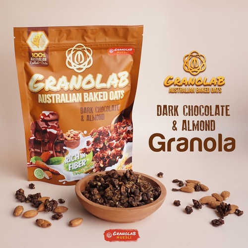 Foto Produk Granolab Muesli Dark Chocolate & Almond Australian Baked Oats dari Yen's Baby & Kid Official Shop