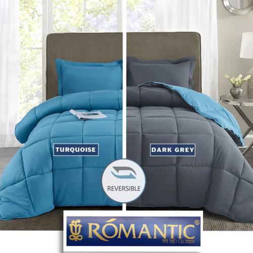 Foto Produk Two Tone ROMANTIC Bedcover Sprei 180 200x20 Tosca Biru Katun Jepang - 90x200 dari Tulip Romance