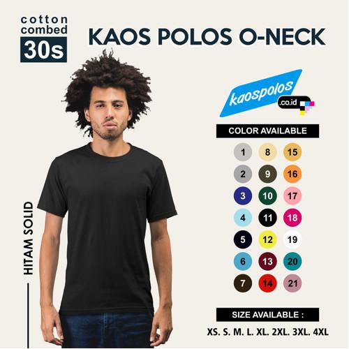 Foto Produk Tshirt Polos / Kaos Polos Super Cotton 30s Unisex - S dari Kaos Polos.co.id