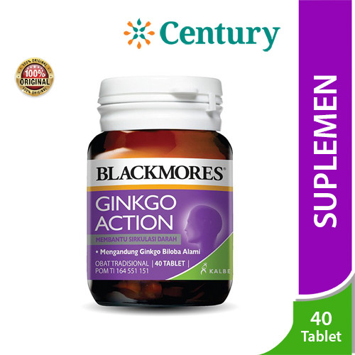 Foto Produk Blackmores Ginkgo Action Isi 40 Tablet dari CENTURY HEALTHCARE