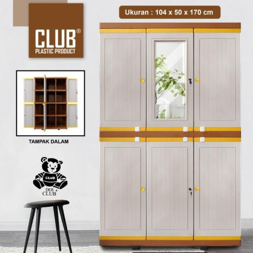 Foto Produk lemari plastik club pintu 3(MEGA GRAND LC-M01 dari furniture robby