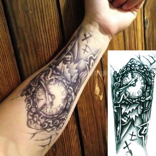 Foto Produk Sticker Tattoo Temporary - Tato Temporer - Tato 3D Robotik jam dari Kendrick MY