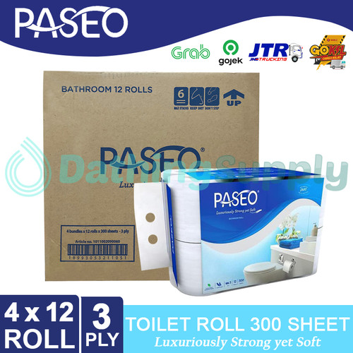 Foto Produk (KHUSUS GOJEK/GRAB) Tissue Paseo Elegant Toilet 12 Roll - 1 DUS 4 PACK dari Dathing Supply