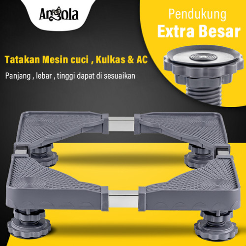 Foto Produk Roda Kulkas/Washing Machine Rak Dudukan Mesin Cuci Kaki Kulkas D32/D36 - tanpa roda dari Angola Official Store