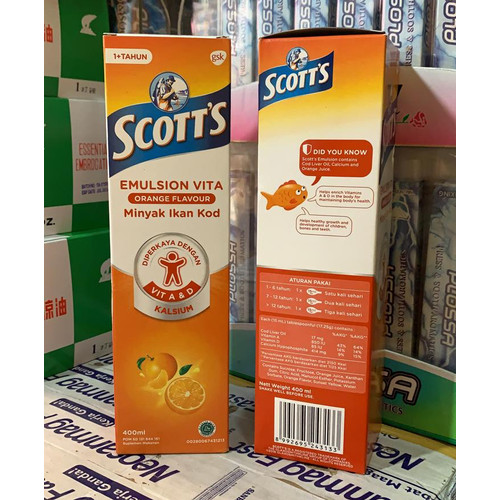 Foto Produk scott emulsion 400ml rasa jeruk dari Toko Obat NML
