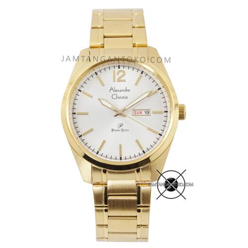 Foto Produk Jam Tangan Pria Alexandre Christie Primo AC 1012 ME Rantai Full Gold dari Jam Tangan Toko