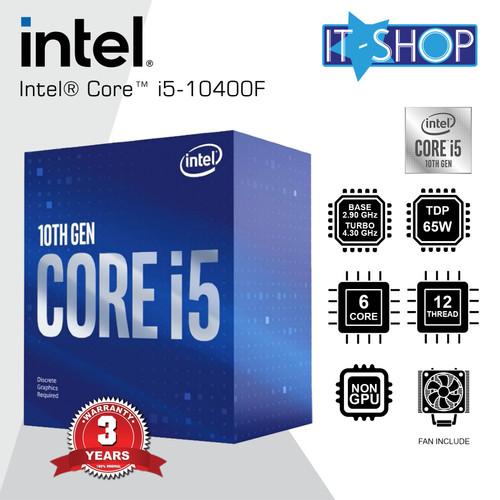 Foto Produk Processor Intel Core i5 10400F - LGA 1200 Box dari IT-SHOP-ONLINE