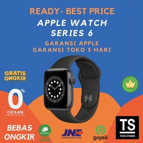 Foto Produk Apple Watch Series 6 Space Grey with Black Sport 44mm 40mm 44 40 mm - RESMI INTER, 40MM dari Tech Studio Indonesia