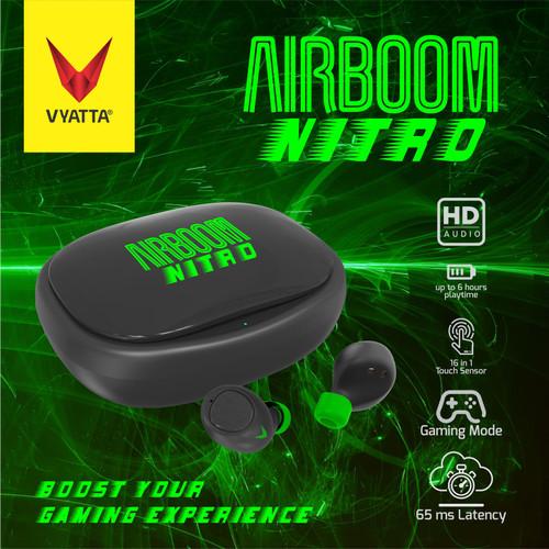 Foto Produk VYATTA Airboom Nitro TWS Bluetooth Earphone - Gaming 65ms dari VYATTA PALEMBANG