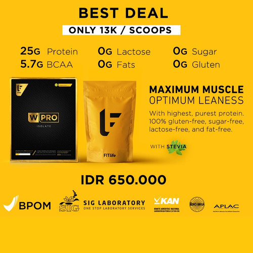 Foto Produk Fitlife Whey Protein Isolate 50servings dari Solid-Store