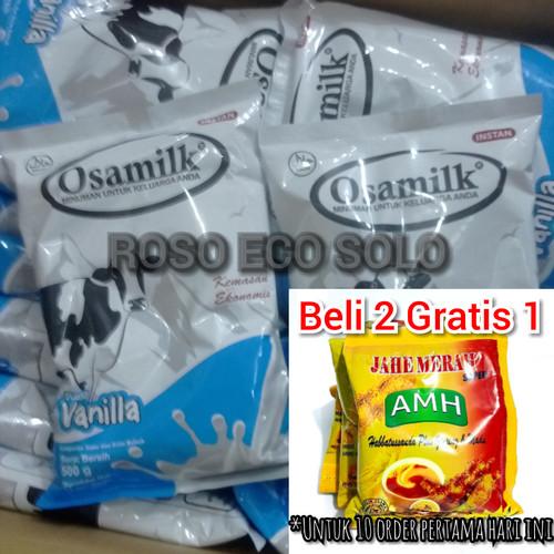 Foto Produk OSAMILK Susu Sapi 500 gram   Rasa Vanilla   Susu Gemuk Badan - Vanilla dari ROSO ECO SOLO