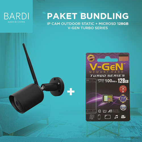 Foto Produk BARDI Smart outdoor STC IP Camera CCTV + Micro SD 128GB V GEN class10 dari Bardi Official Store