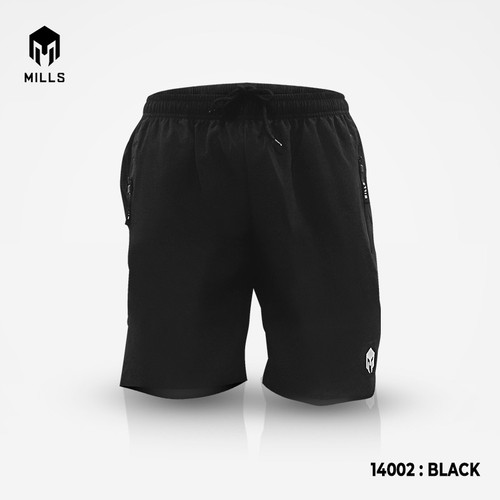 Foto Produk MILLS Liquid Short Pants 14002 Black - Black, XL dari MILLS Official