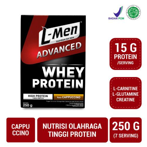 Foto Produk L-Men Hi Protein Whey Advanced Cappuccino 250gr dari NutriMart