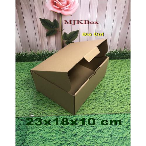 Foto Produk Kardus Karton Uk, 23x18x10 cm...Die Cut untuk packing- aksesoris- dll dari MJKbox
