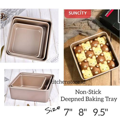 Foto Produk Suncity Baking Tray / Suncity Square Pan / Loyang Persegi Anti Lengket - 7 Inch dari Baking baking