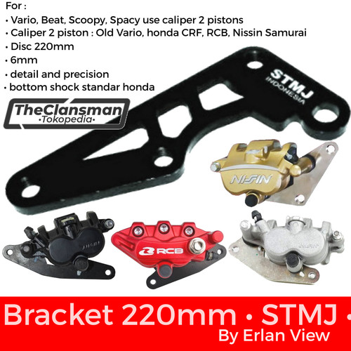 Foto Produk Braket Bracket Breket Cakram Kaliper STMJ 220mm Vario Beat Scoopy dari TheClansman