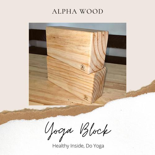 Foto Produk Wooden Yoga Block Brick / Balok Yoga Kayu / Balok Olahraga Kesehatan / - Tidak Sambungan dari Alphabeststore