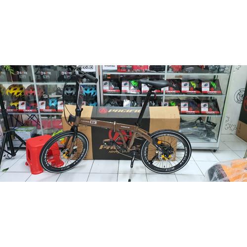 "Foto Produk Sepeda Lipat PACIFIC Noris ARM 20"" (Folding Bike) - Gold Brown dari Travelholic Store"