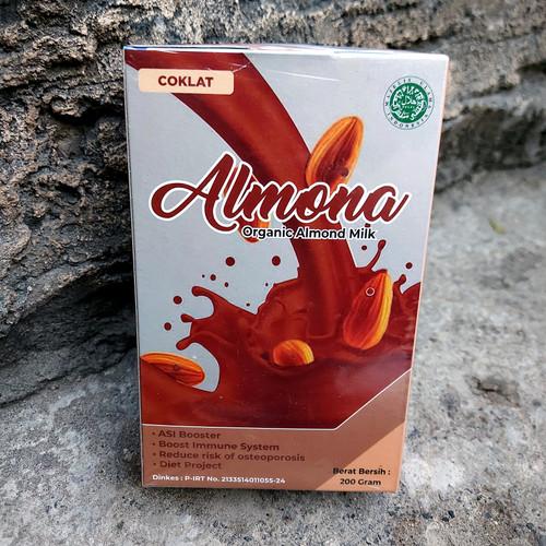 Foto Produk Almona Susu Almond Organic Pro Asi Booster Ekslusif Isi 200 gram - Coklat dari Sumber & Waras