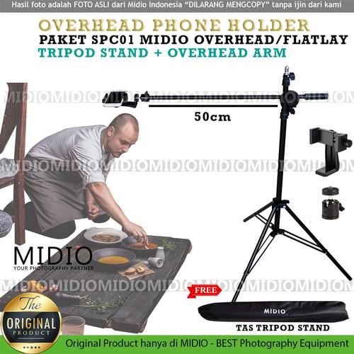 Foto Produk Midio Overhead Arm Plus Tripod Stand SPC01 Plus Phone Holder 360 dari Midio