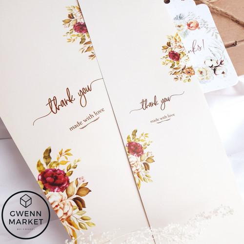 Foto Produk Paper Belt paperbelt thank you thankyou label brand label box dekorasi - 30x6cm dari gwennmarket
