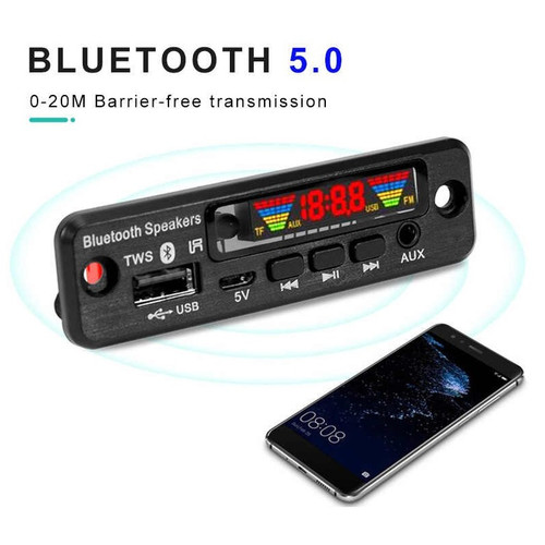 Foto Produk KIT MODUL Bluetooth 5.0 TWS MP3 USB Lossless PLAYER FM Radio Remote dari mirorim