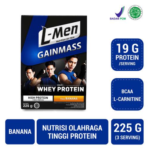 Foto Produk L-Men Gain Mass Banana 225gr dari NutriMart