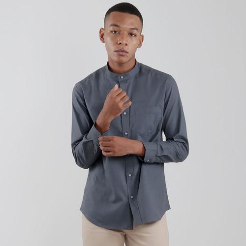 Foto Produk Edwin Jeans Linen Style Long Shirt Dexon Dark Grey - Abu-abu, XL dari Edwin Jeans