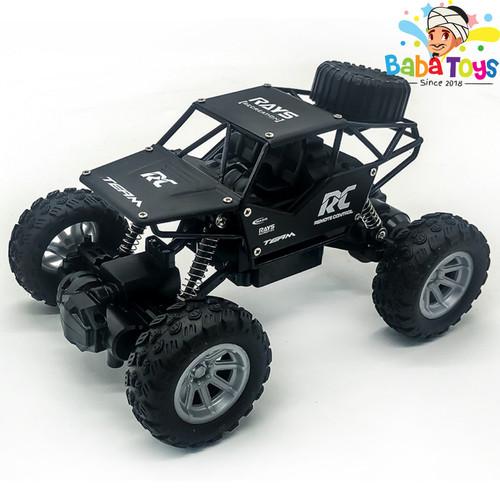 Foto Produk Mainan Mobil Remote Control 1:18 RC Rock Crawler Offroad Alloy - Hitam dari Baba Toys and Games