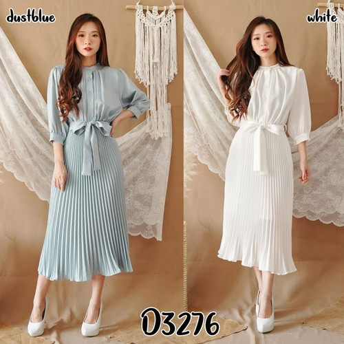 Foto Produk RIEL DRESS PLISKET MAXY LENGAN PANJANG CANTIK dari Pattern Indo