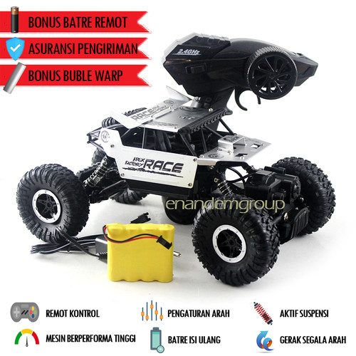 Foto Produk Mainan Mobil Offroad Remote Control Rocks Crawler - Perak dari Mafemale