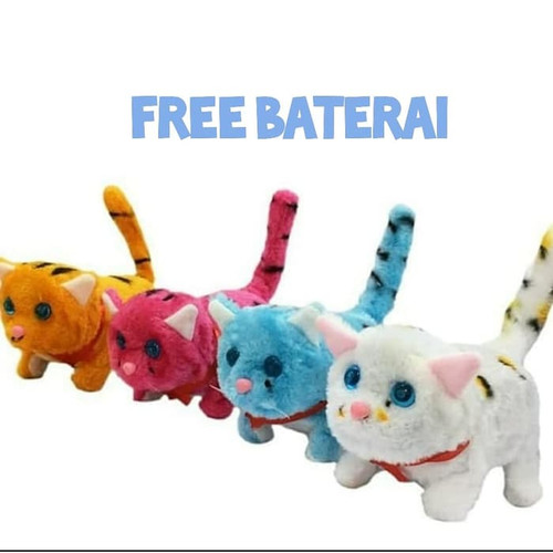 Foto Produk Kucing Mainan   Robot Kucing   Boneka Kucing / FREE BATERAI - Random dari Grosir Jaya Indah